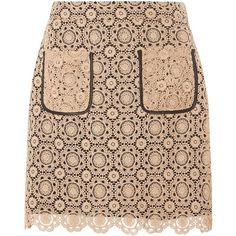 Dorothy Perkins Cream Lace A-line Skirt (325 CNY) ❤ liked on Polyvore featuring skirts, bottoms, cream, a line skirt, knee length a line skirt, lace a line skirt, beige skirt and beige lace skirt