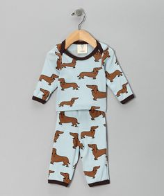 Mad Boy clothes - dachshund infant pjs