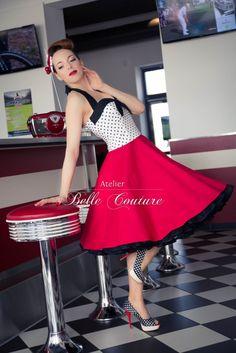 Atelier Belle Couture | 50er Jahre Rockabilly Petticoatkleid