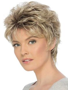 Christa by Estetica Designs – Synthetic Pure Stretch Cap Wig – The HeadShop Wigs - New Site Short Layered Haircuts, Cool Short Hairstyles, Hair Styles For Women Over 50, Short Hair Cuts For Women, Mandy Moore Short Hair, Haircut For Older Women, Short Wedding Hair, Short Hair With Layers, Short Blonde