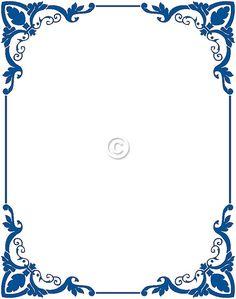 printable frames clipart educational vintage border