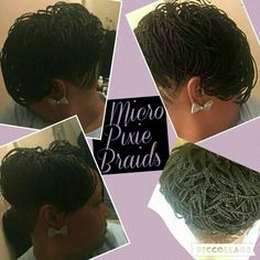Pixie braids, Longer pixie and Micro braids on Pinterest
