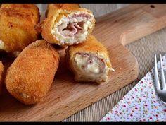 Rollitos de pollo, jamon y queso (Receta fácil) - YouTube
