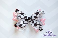Handmade Stacked Boutique Bow Featuring by EllesBellsandBows on Etsy