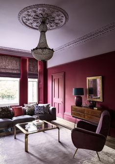 Wall: Grenache 372 – Pure Flat Emulsion Ceiling: Lady Char's Lilac 368 – Architects' Matt  Woodwork: Grenache 372- Architects' Eggshell