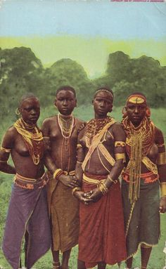 Native East African Women 1909 #dailyconceptive #diarioconceptivo African Tribal Girls, Tribal Women, African Women, Africa Tribes, East Africa, Native American History, African History, Tribal People, My Black Is Beautiful