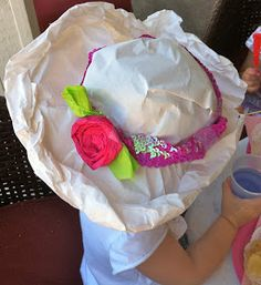 Planning a mother 39 s day tea party with kids tea parties for How to decorate a hat for a tea party
