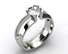 Contemporary High Quality Tension Set Engagement Rings From James Allen