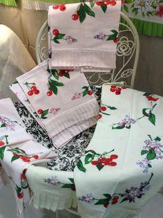 New LuRay Botanical Cherry Tea Towels
