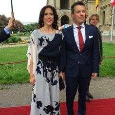 Crown Prince Frederik and Crown Princess Mary of Denmark attends a banquet held for guests and the participating Danish companies on May 20, 2015 in Munich, Germany.