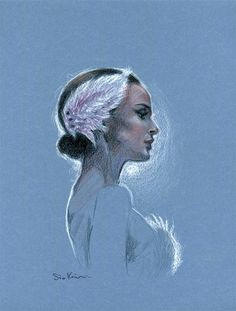 Pastel Colored Pencil Drawing - Natalie Portman Black Swan | First pinned to Celebrity Art board here... http://www.pinterest.com/fairbanksgrafix/celebrity-art/ #Drawing #Art #CelebrityArt