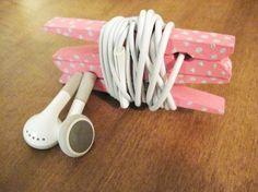 Tenere le cuffie districarli e ordinato, con clip per le cuffie da mollette