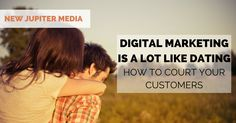 Marketing and dating are a lot alike: all about first impressions, the experience, and the follow-up. Learn how to start courting your customers today.
