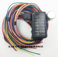 12 circuit universal wire harness muscle car hot rod street rod new rh pinterest com JVC Car Stereo Wiring Harness JVC Car Stereo Wiring Harness