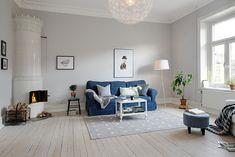 A pretty, white Swedish apartment
