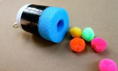 Pool Noodle Pom Pom Shooter | Trash To Treasure Craft Activities| Kids Activities And Games