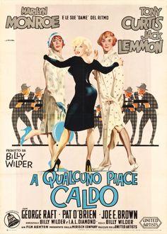 "Movie Posters:Comedy, Some Like It Hot (United Artists, 1959). Italian 4 - Foglio (55"" X78"").. ... Image #1"