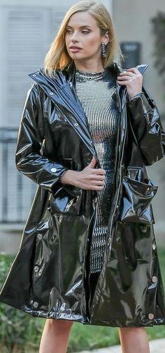 Vinyl Raincoat, Pvc Raincoat, Imper Pvc, Vinyl Clothing, Pvc Vinyl, Rain Wear, Capes, Leather Jacket, Satin