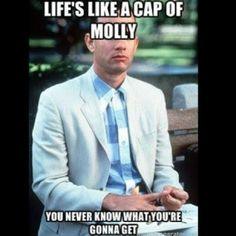 Picture: life is like a cap of molly