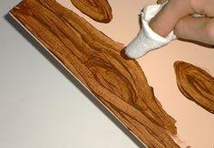 Pentart dekor: Így készíts hamis faerezetet! Craft Materials, Painted Furniture, Decoupage, Diy And Crafts, Wax, Woodworking, Handmade, Vintage, Wood Texture