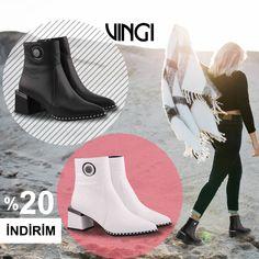 ⚫️⚪️Farklı olmayı sevenler için sezonun en trend modellerinden biri renk seçenekleri ile web sitemizde. Tabata, Rubber Rain Boots, Shoes, Fashion, Moda, Zapatos, Shoes Outlet, Tabata Workouts, Fasion