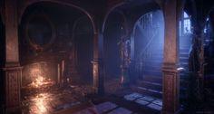 ArtStation - Mansion Hall, Joel Zakrisson Dark Castle, Sci Fi Environment, Monster House, Photo Texture, Fantasy Places, Unreal Engine, Fantasy Landscape, Fantasy Art, Environmental Art