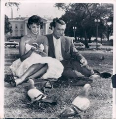 Sophia Loren and Cary Grant. He was so in love with her but she chose Carlo Ponti.