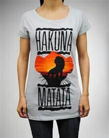 Hakuna Matata lazer cut shirt