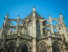 Flying Buttresses On Cathedral Of Saint Gatien Tours France Photo Credit Campra