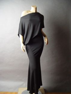 Grecian Goddess Minimalist Asymmetrical Off The Shoulder fp Long Maxi Dress 2X #Other #Maxi #Casual