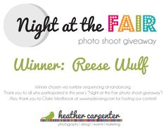 new post: GIVEAWAY WINNER: free photo shoot with heather carpenter