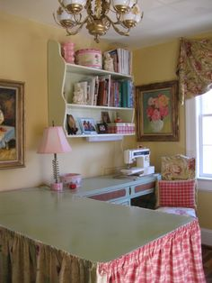 Skirted sewing table