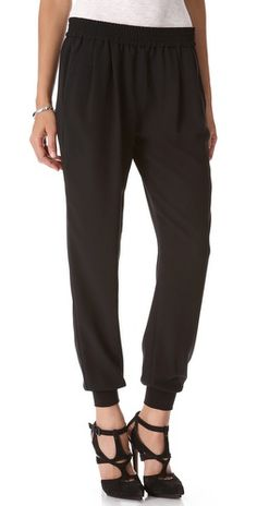 you dream of Jeanie? These genie pants are cute - sort of like a pair of sweatpants that are comfortable but you can dress up - like em? from #Joie