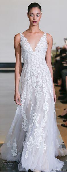 justin alexander spring 2018 bridal sleeveless v neck full embellishment elegant romantic flowy modified a line wedding dress chapel train (20) zv