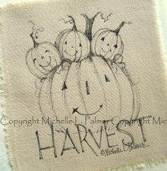 Michelle Palmer harvest pumpkins