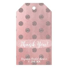 Rose Gold Pink Shine Glam Polka Dots Modern Chic Gift Tags - baby shower ideas party babies newborn gifts