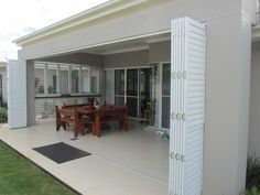 External Bi Folding Aluminium Plantation Shutters
