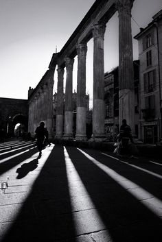 San Lorenzo, Long shadows in Milano by Alessandro Donati on 500px Lombardy
