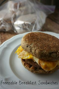Healthy Freezer Breakfast Sandwiches: These came together in about 5 minutes.