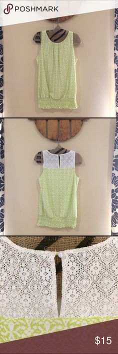 NWOT maurices Sleeveless Top Medium NWOT Beautiful print top. Never worn. Smocked at the waist. Maurices Tops Blouses