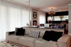Hiper Básico: Apartamentos pequenos: Um living, uma sala de jant...