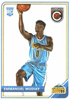 c434e0a4d48 Buy 2015-16 Panini Complete Emmanuel Mudiay Rookie Card Denver Nuggets at  JM Collectibles for only $1.00