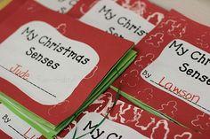 Christmas Senses Book - Holiday Book Making in Preschool