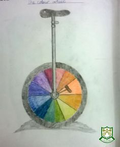 Year 7 homework example exploring colour theory.