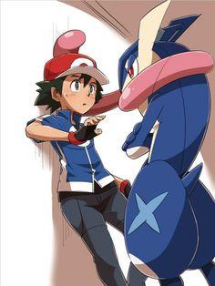 kabe don #Pokemon x et y Greninja Amphinobi #Dessin ちひ #JeuVidéo
