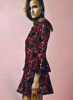 Sequin polka dots by Dolce & Gabbana ~Jade Sprowson