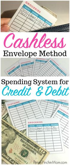 The Envelope Method for Debit & Credit Users – Finance tips, saving money, budgeting planner Excel Budget, Budget Binder, Budget Help, Budget Envelopes, Cash Envelopes, Envelope Budget, Budgeting Finances, Budgeting Tips, Microsoft Excel