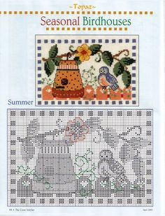 Seasonal Birdhouses 3.