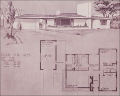 Design No. 1075    1948 Homes — Home Building Plan Service , Portland, OR