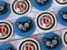 Disney Beary Brave Cupcake Toppers  Brave Birthday Party Cake Idea  via Lynlee's Petite Cakes